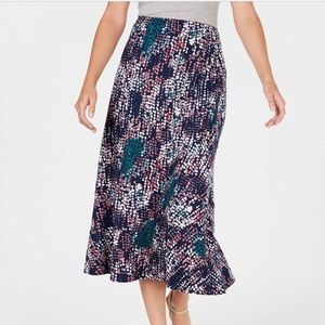 NY Collection Petite Printed Skirt